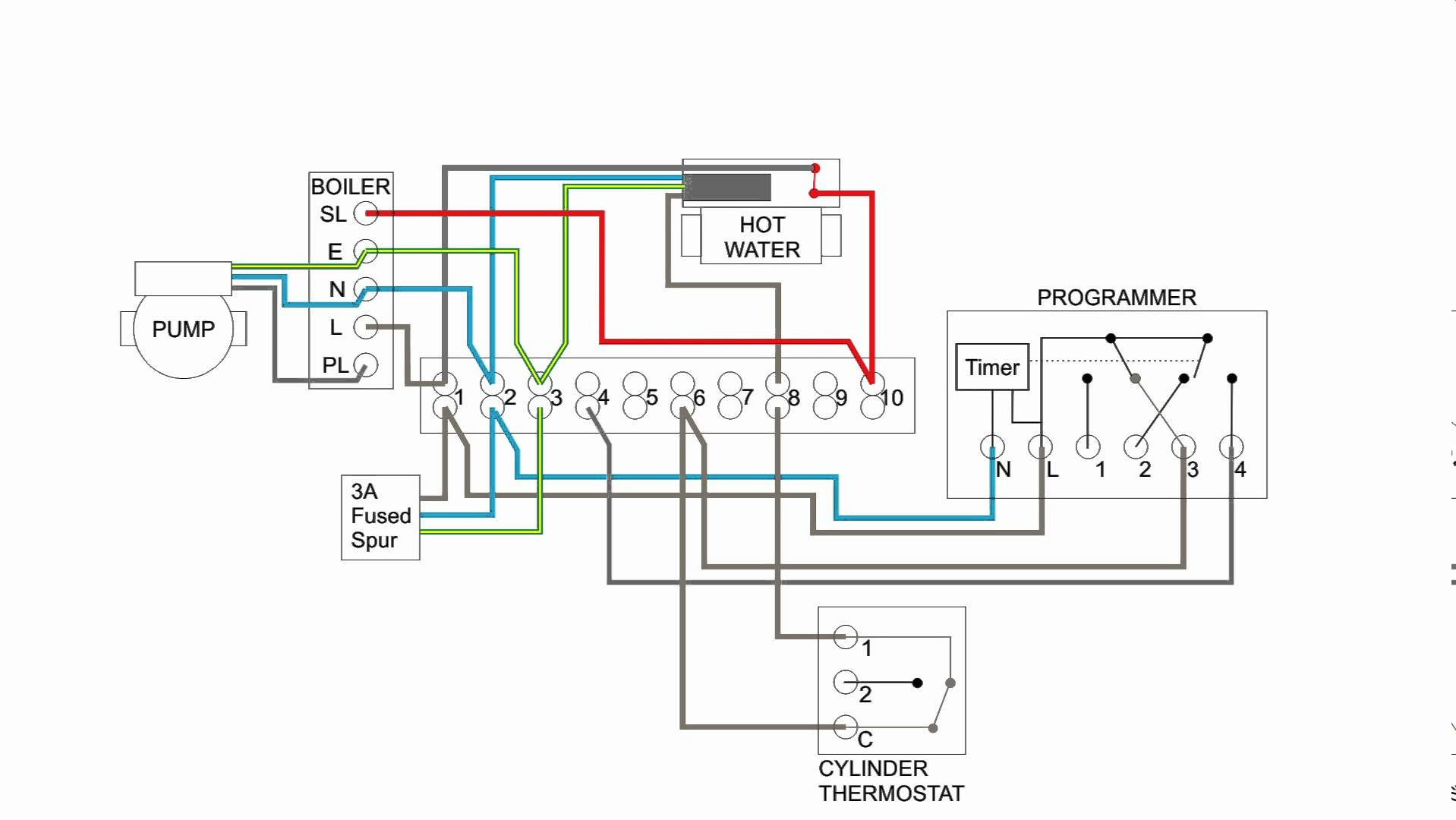 Hot Water Heating System Wiring Schematic | Switch Wiring Diagram - 5 Wire Thermostat Wiring Diagram