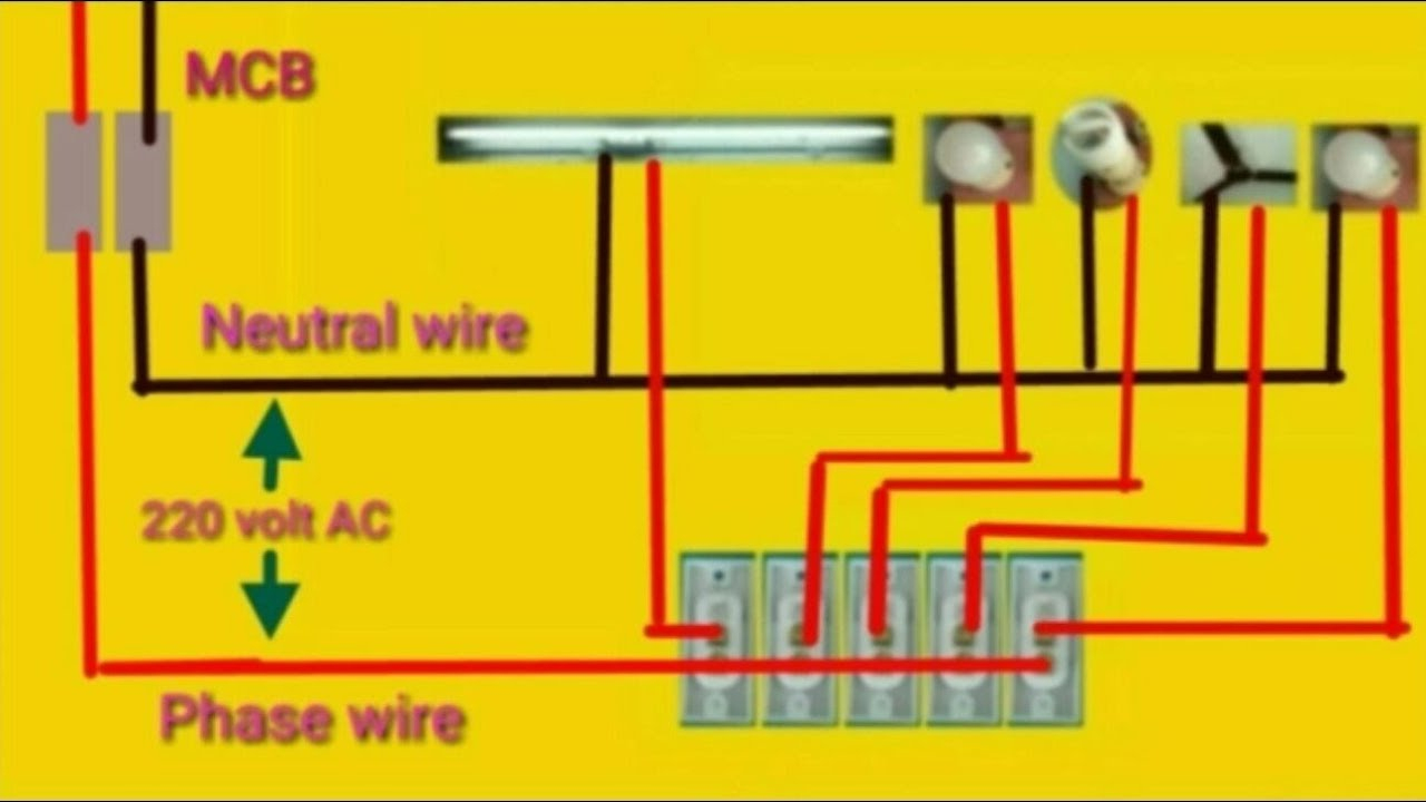 House Wiring Or Home Wiring Connection Diagram - Youtube - Home Wiring Diagram