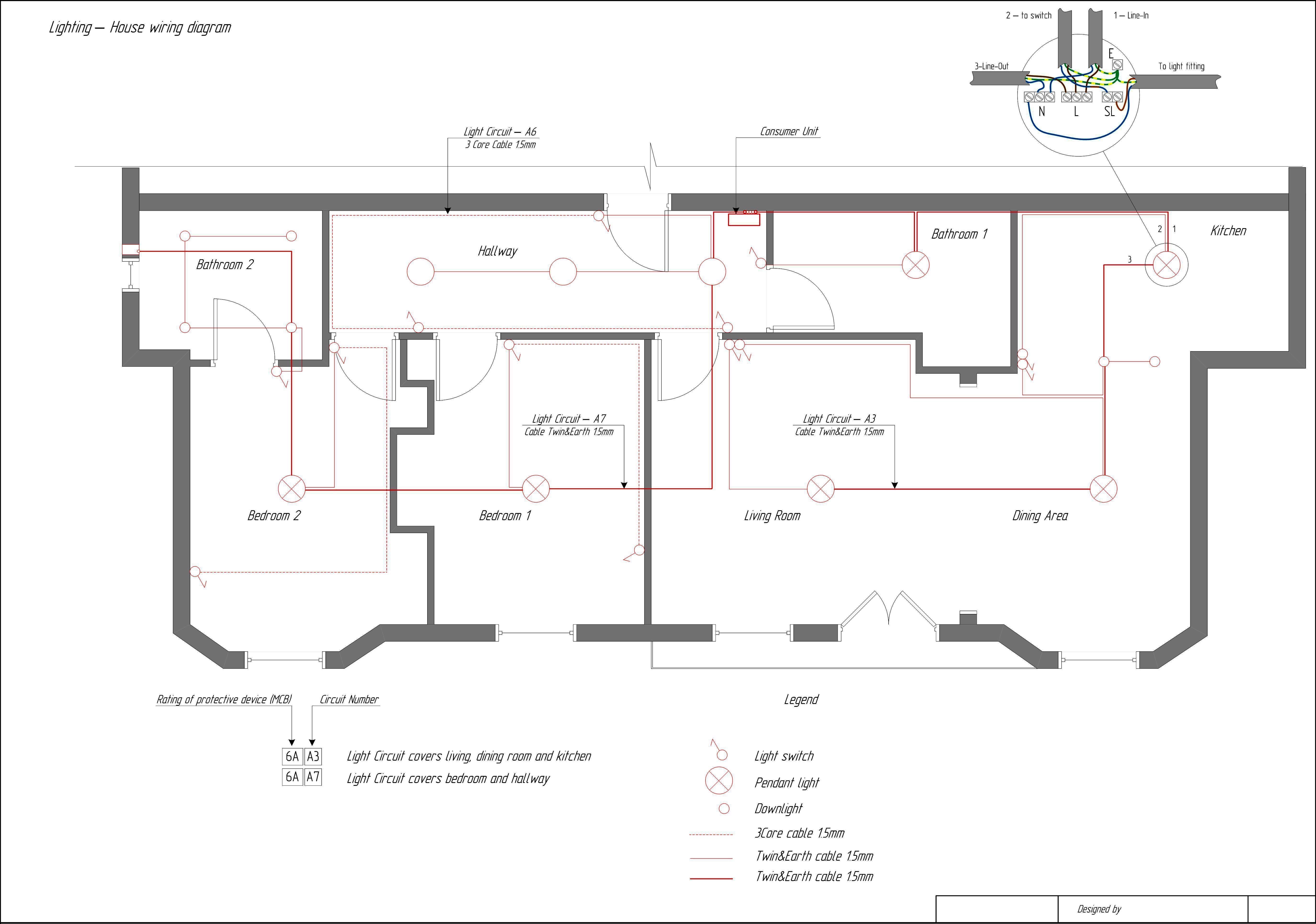 Household Wiring Diagrams - Data Wiring Diagram Today - Basic House Wiring Diagram