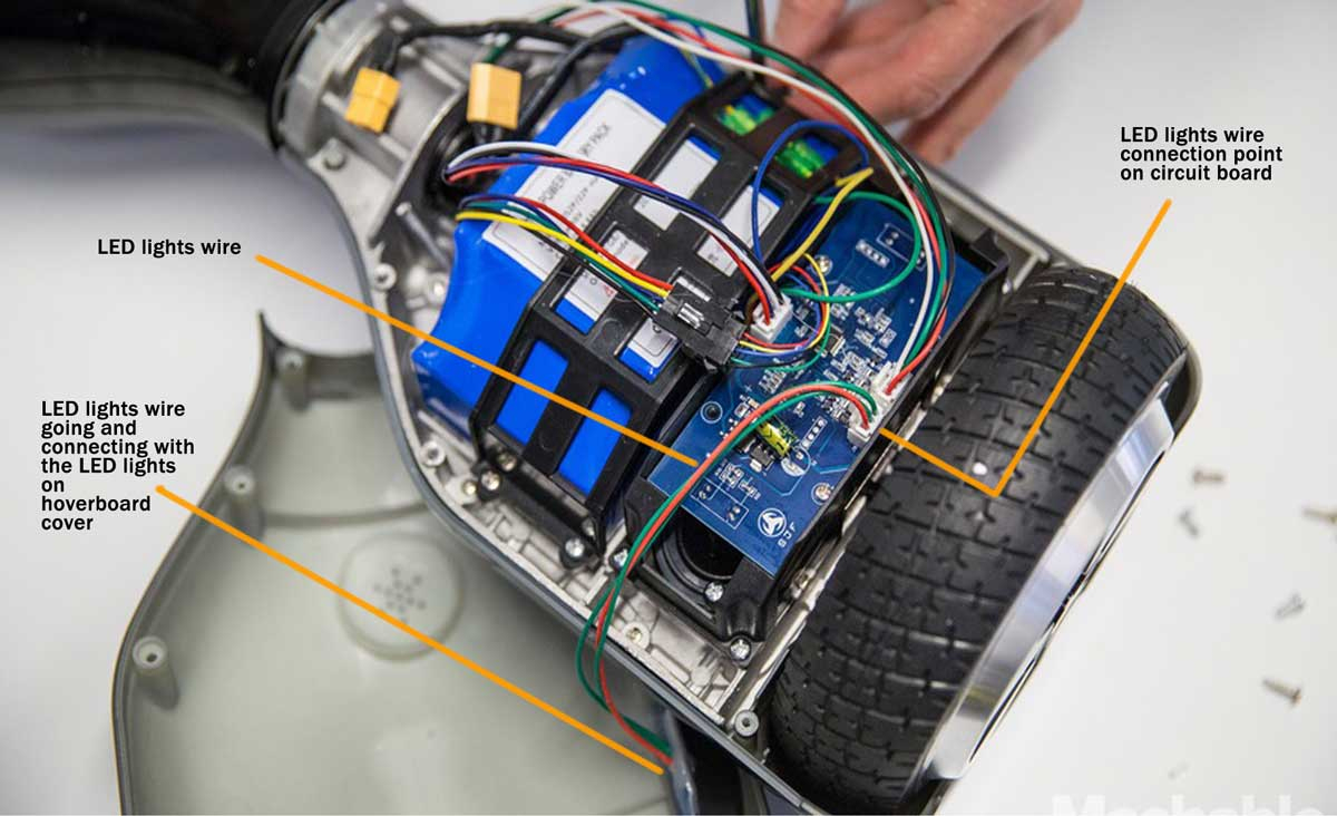 Hoverboard Repair Tutorial For Loose Connections And Recalibration - Hoverboard Wiring Diagram