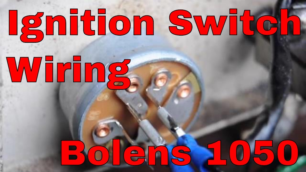 How To Change The Ignition Switch On An Bolens 1050 Garden Tractor - 5 Prong Ignition Switch Wiring Diagram