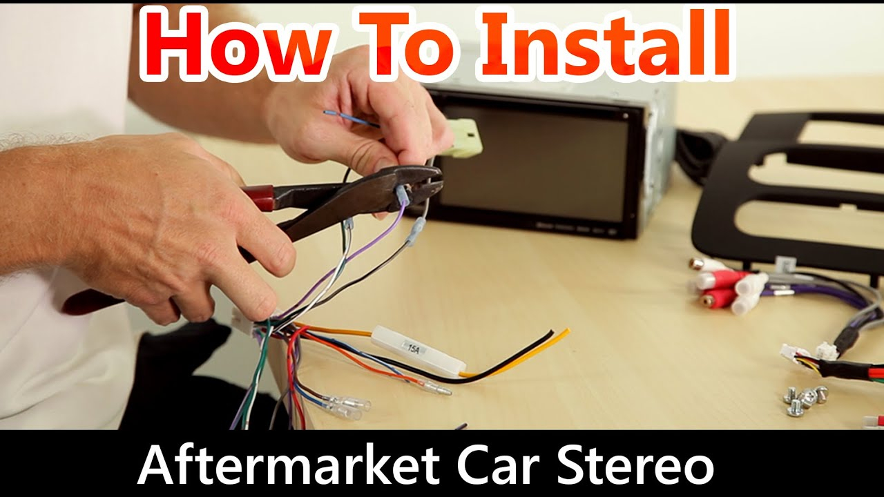 How To Correctly Install An Aftermarket Car Stereo, Wiring Harness - Car Stereo Wiring Harness Diagram