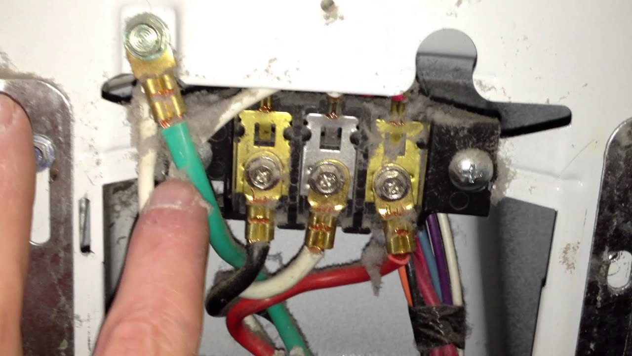 How To Correctly Wire A 4-Wire Cord In An Electric Dryer Terminal - 4 Prong Dryer Outlet Wiring Diagram