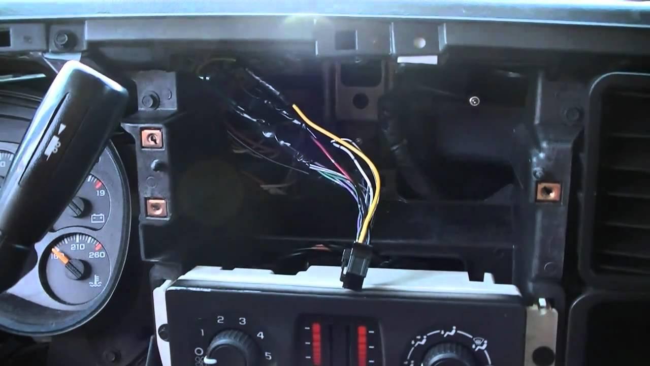 How To Install A Car Stereo In A 2006 Silverado Part 2 - Youtube - 2006 Chevy Silverado Radio Wiring Diagram