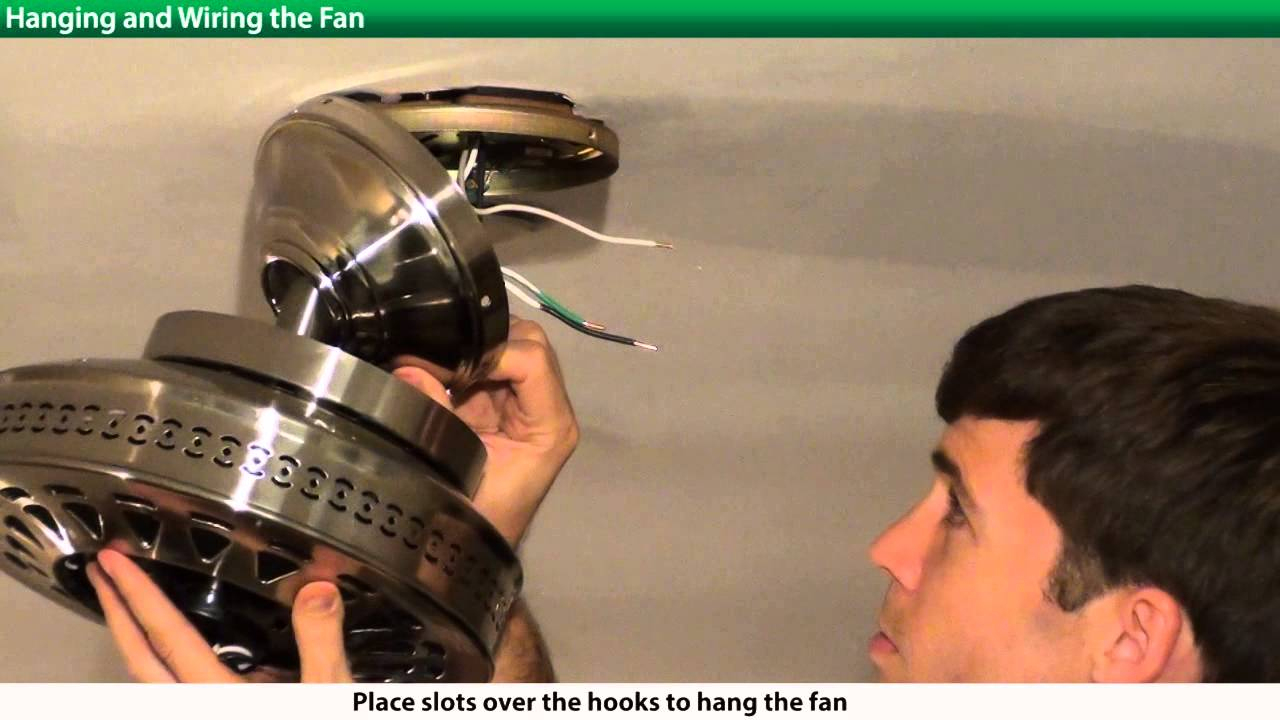 How To Install A Hunter Ceiling Fan - 2Xxxx Series Models - Youtube - Hunter Ceiling Fan Wiring Diagram With Remote Control