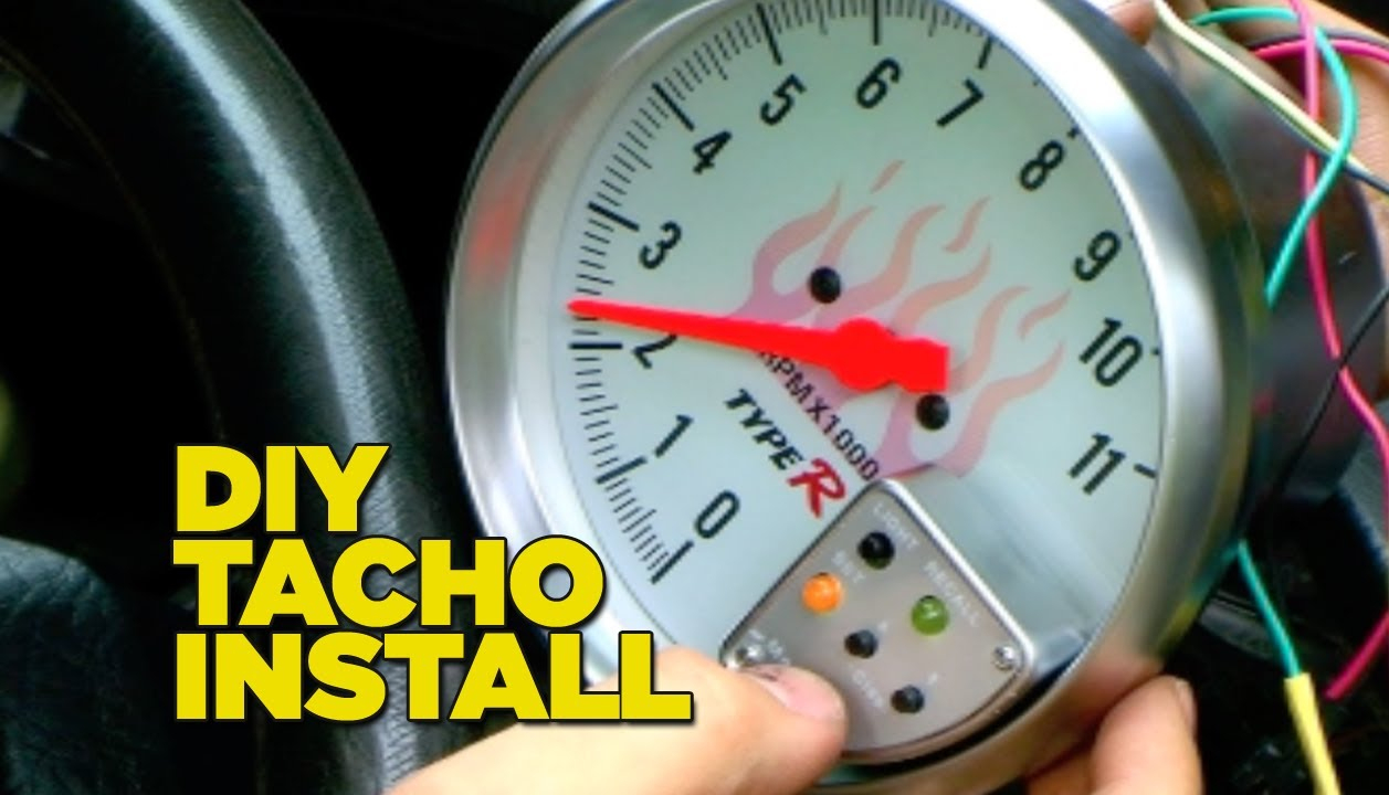 How To Install A Tacho Gauge - Youtube - Tachometer Wiring Diagram