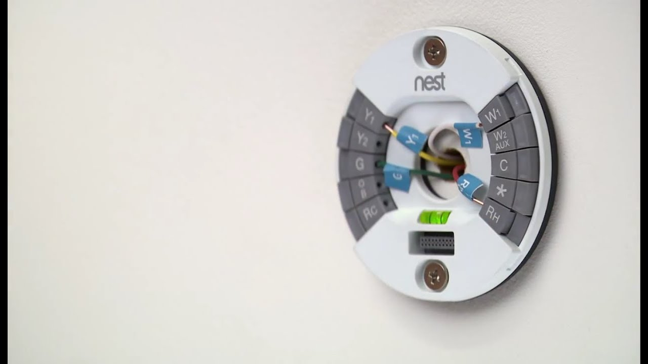 How To Install The 2Nd Gen Nest Learning Thermostat - Youtube - Wiring Diagram For Nest Thermostat