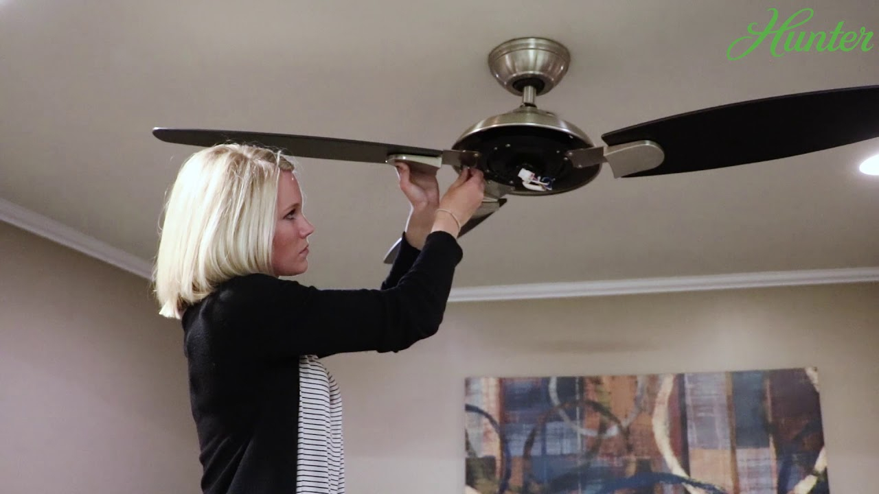 How To Install The Contempo Iihunter Fan Company - Youtube - Hunter Ceiling Fan Wiring Diagram