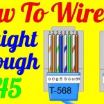 How To Make Straight Through Cable Rj45 Cat 5 5E 6 ( Wiring Diagram   Cat5 Wiring Diagram
