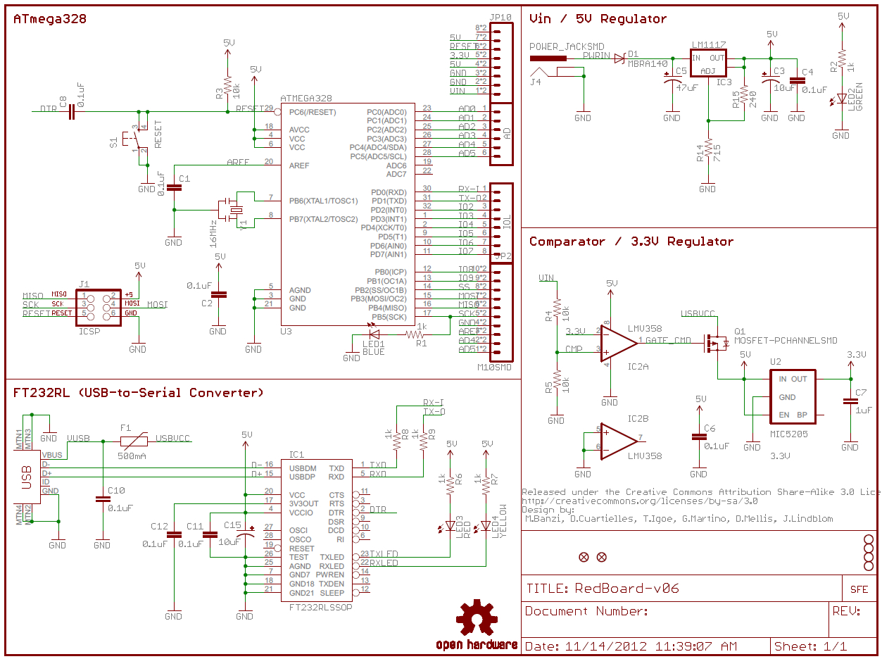 How To Read A Schematic - Learn.sparkfun - Wiring Diagram Symbols