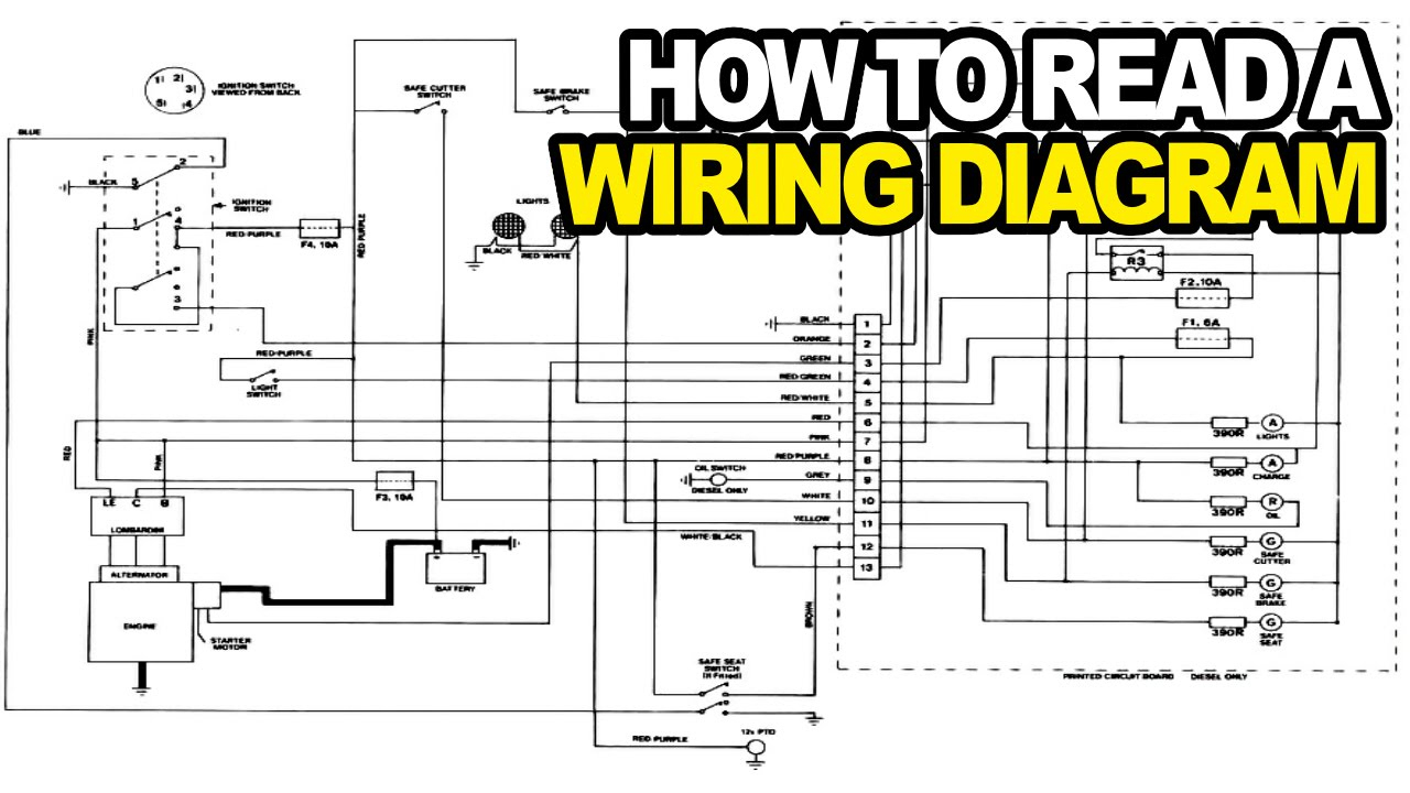 How To: Read An Electrical Wiring Diagram - Youtube - Electrical Wiring Diagram