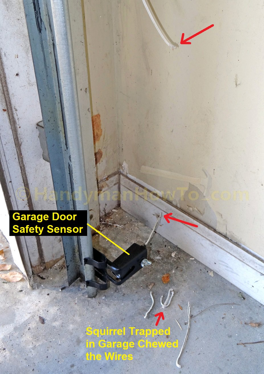 How To Repair Garage Door Safety Sensor Wires - Chamberlain Garage Door Sensor Wiring Diagram