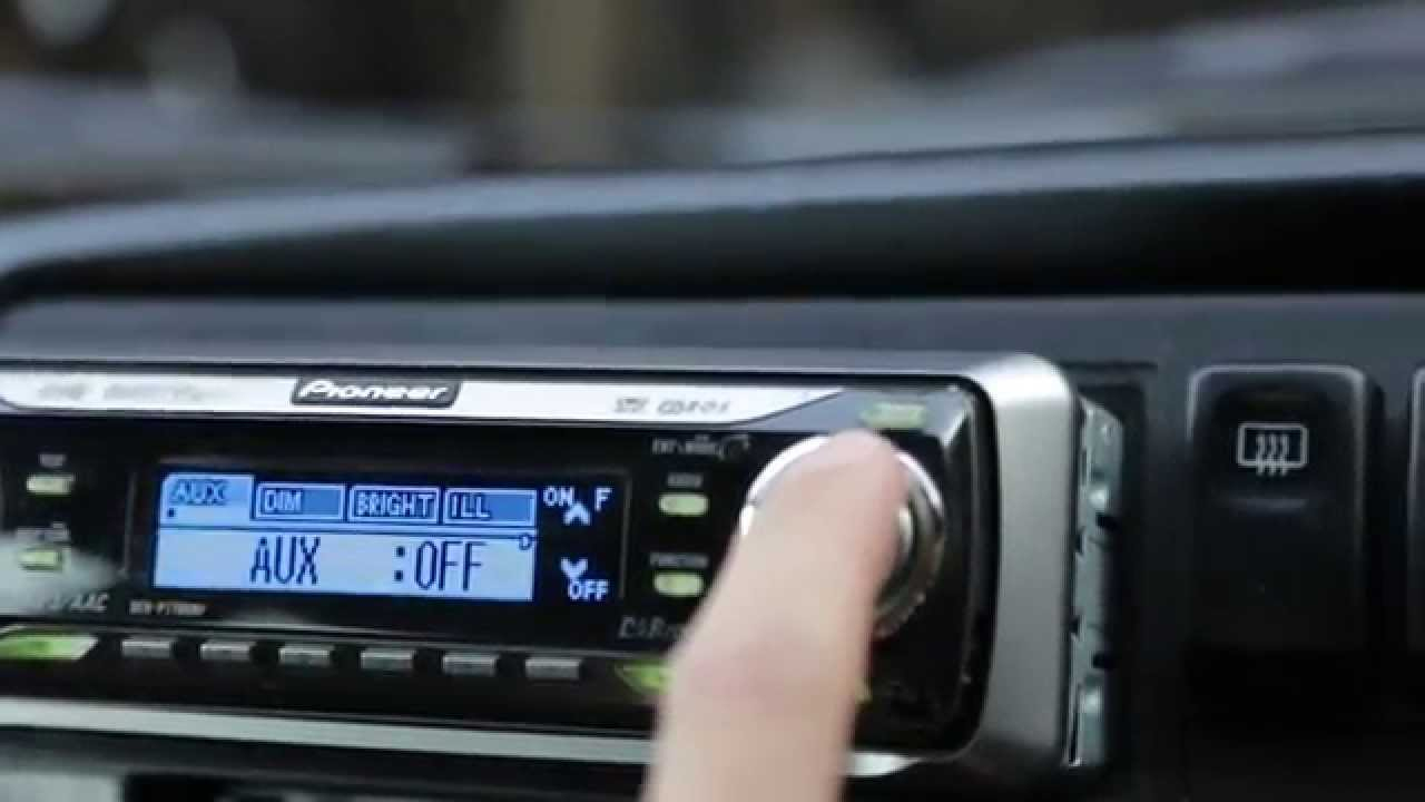 How To Setup The Aux/auxilliary Input For A Pioneer Deh-P7700Mp Cd - Pioneer Head Unit Wiring Diagram