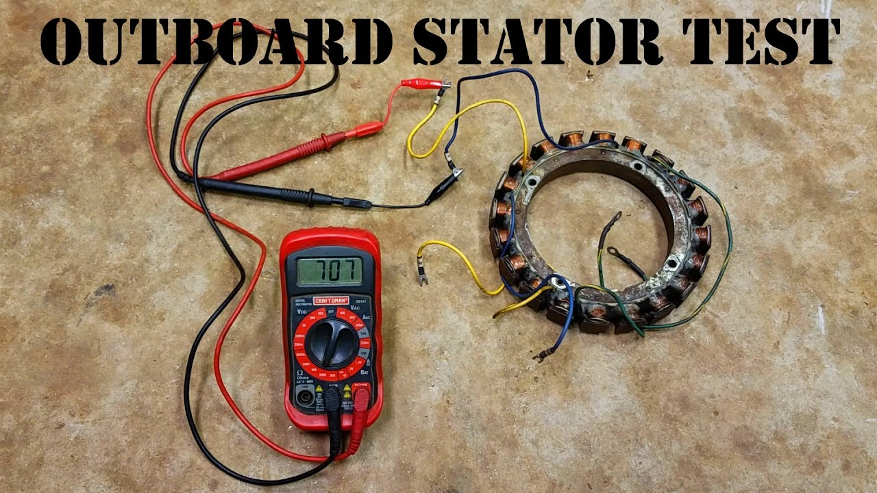 How To Test An Outboard Stator - The Easy Way! - Youtube - Mercury Outboard Wiring Diagram Ignition Switch