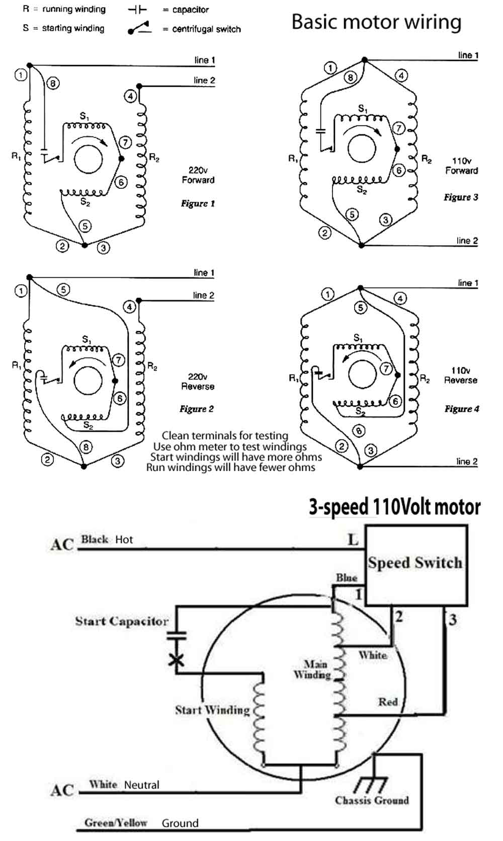 How To Wire 3-Speed Fan Switch - 3 Speed Fan Motor Wiring Diagram