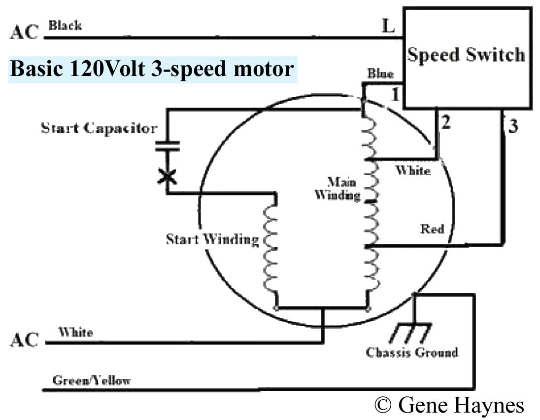 How To Wire 3-Speed Fan Switch - 3 Speed Fan Wiring Diagram