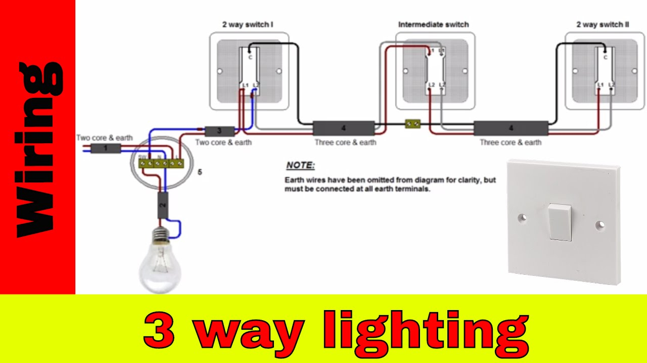 How To Wire 3-Way Lighting Circuit - Youtube - Three Way Light Switch Wiring Diagram