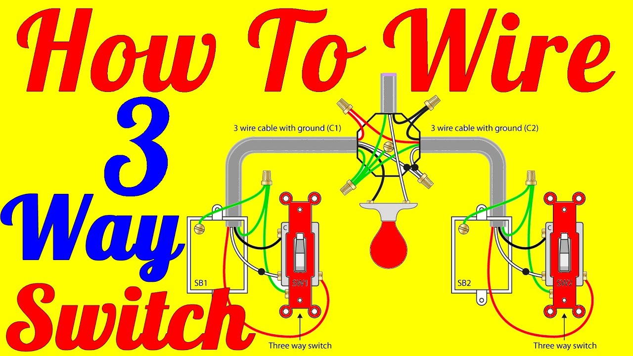 How To Wire 3 Way Switch Wiring Diagrams - Youtube - 3 Way Switch Wiring Diagram