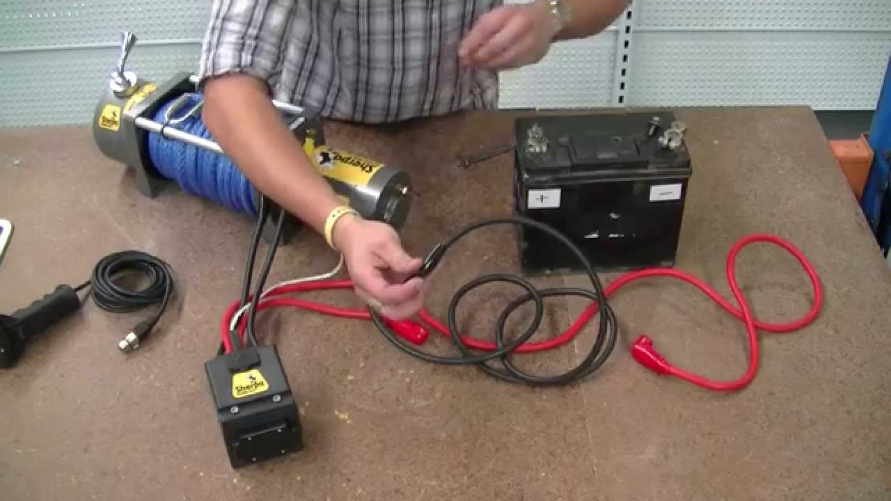 "How To Wire A 12V Winch - Sherpa 4X4 ""the Colt"" - Youtube - 12 Volt Winch Solenoid Wiring Diagram"