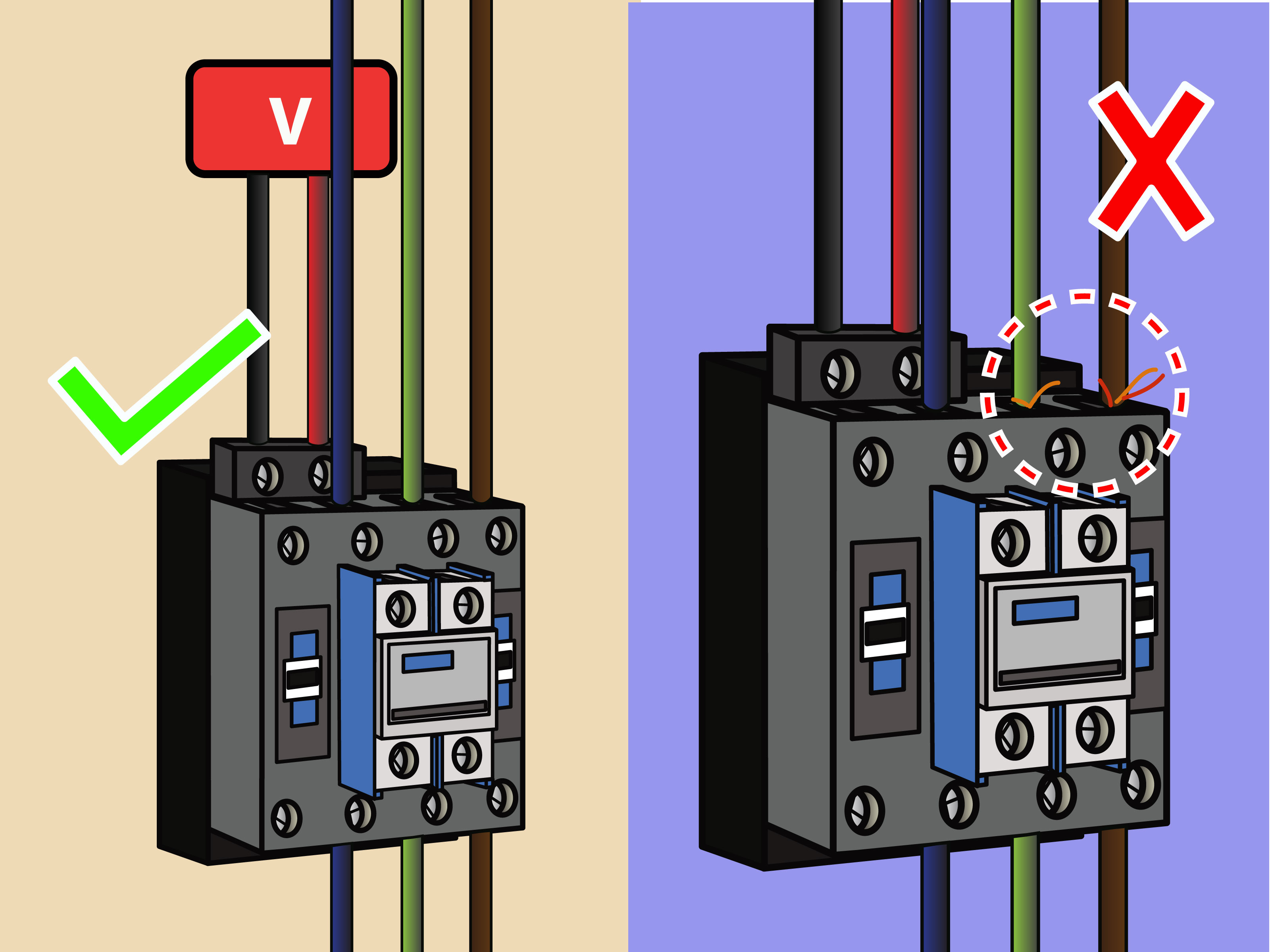 How To Wire A Contactor: 8 Steps (With Pictures) - Wikihow - Ac Contactor Wiring Diagram