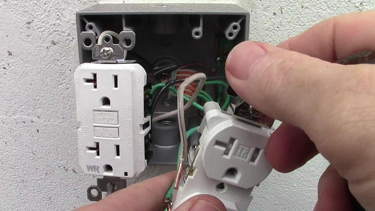 How To Wire A Double Receptacle With 20 Amp Gfci Weather Resistant - Gfci Outlet Wiring Diagram