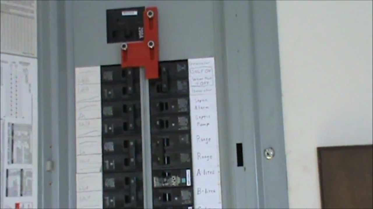 How To Wire A Generator To An Electrical Panel - Youtube - Generator Backfeed Wiring Diagram