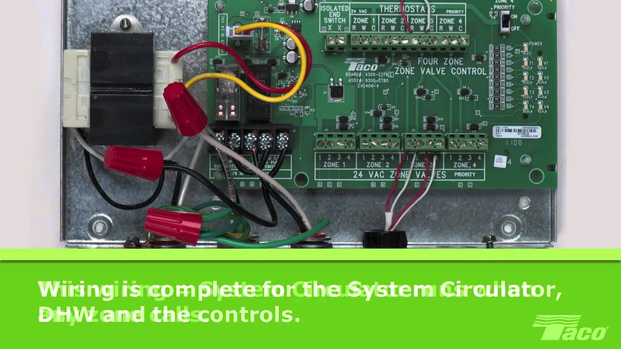 How To Wire A System Circulator To A Taco Zone Valve Control (Zvc - Taco Zone Valve Wiring Diagram