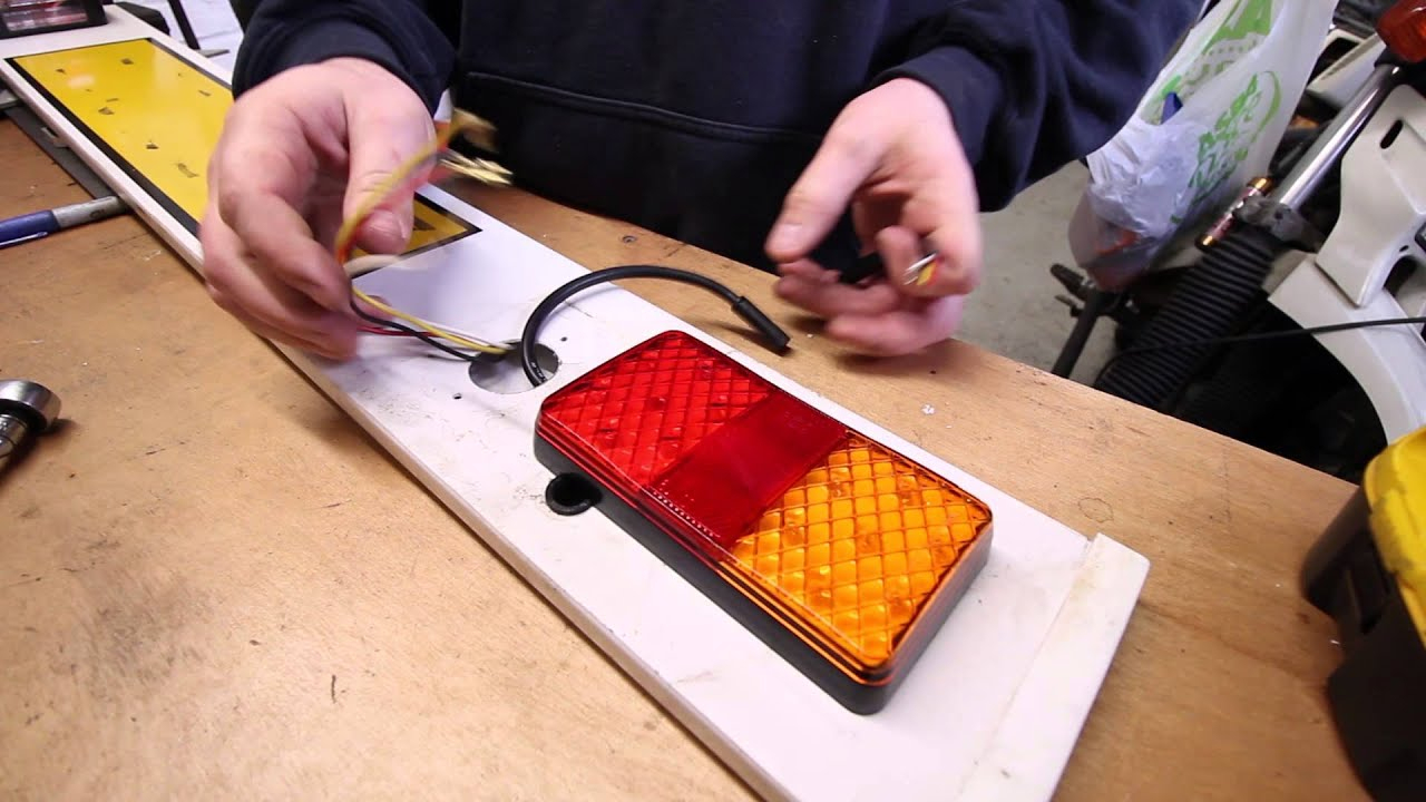 How To Wire Led Trailer Lights - Youtube - Led Trailer Lights Wiring Diagram