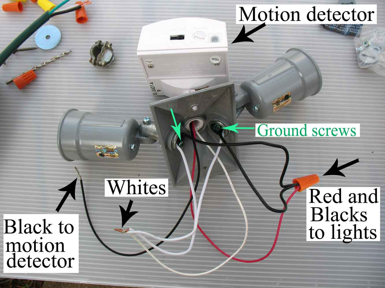 How To Wire Motion Sensor/ Occupancy Sensors - Wiring A Motion Sensor Light Diagram