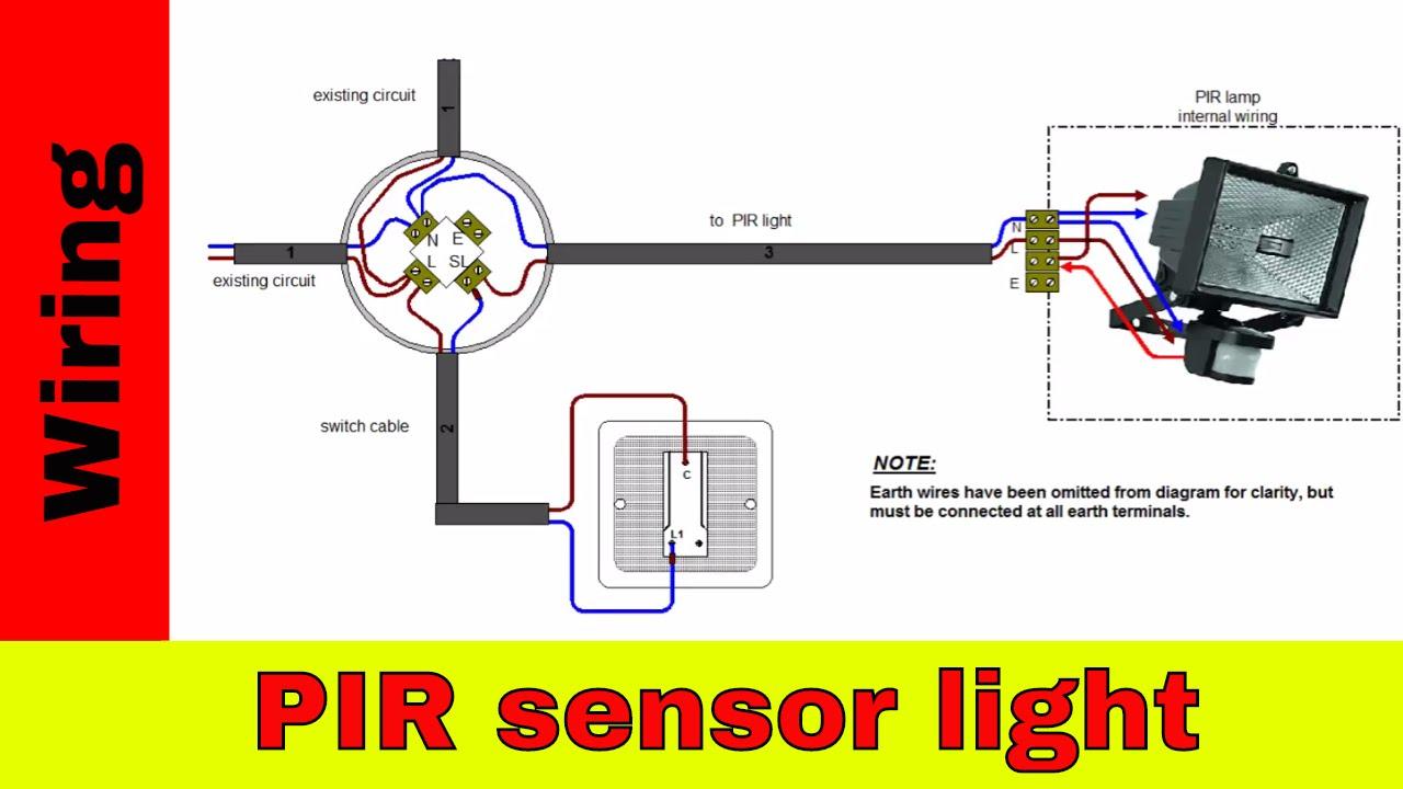How To Wire Pir Sensor Light. - Youtube - Wiring A Motion Sensor Light Diagram