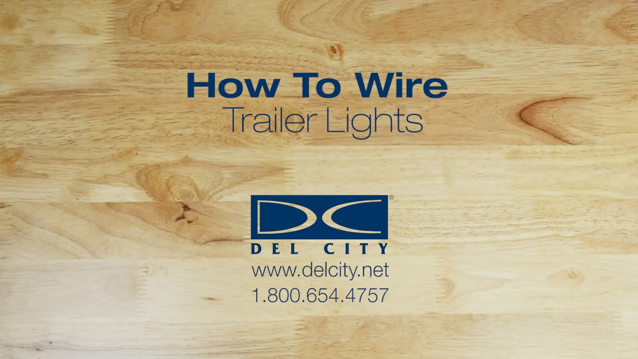 How To Wire Trailer Lights - Youtube - 6 Way Trailer Plug Wiring Diagram