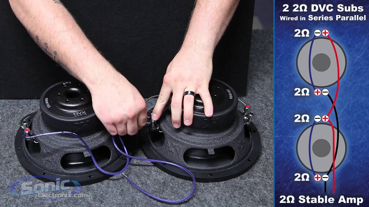 How To Wire Two Dual 2 Ohm Subwoofers To A 2 Ohm Final Impedance - Subwoofer Wiring Diagram Dual 2 Ohm