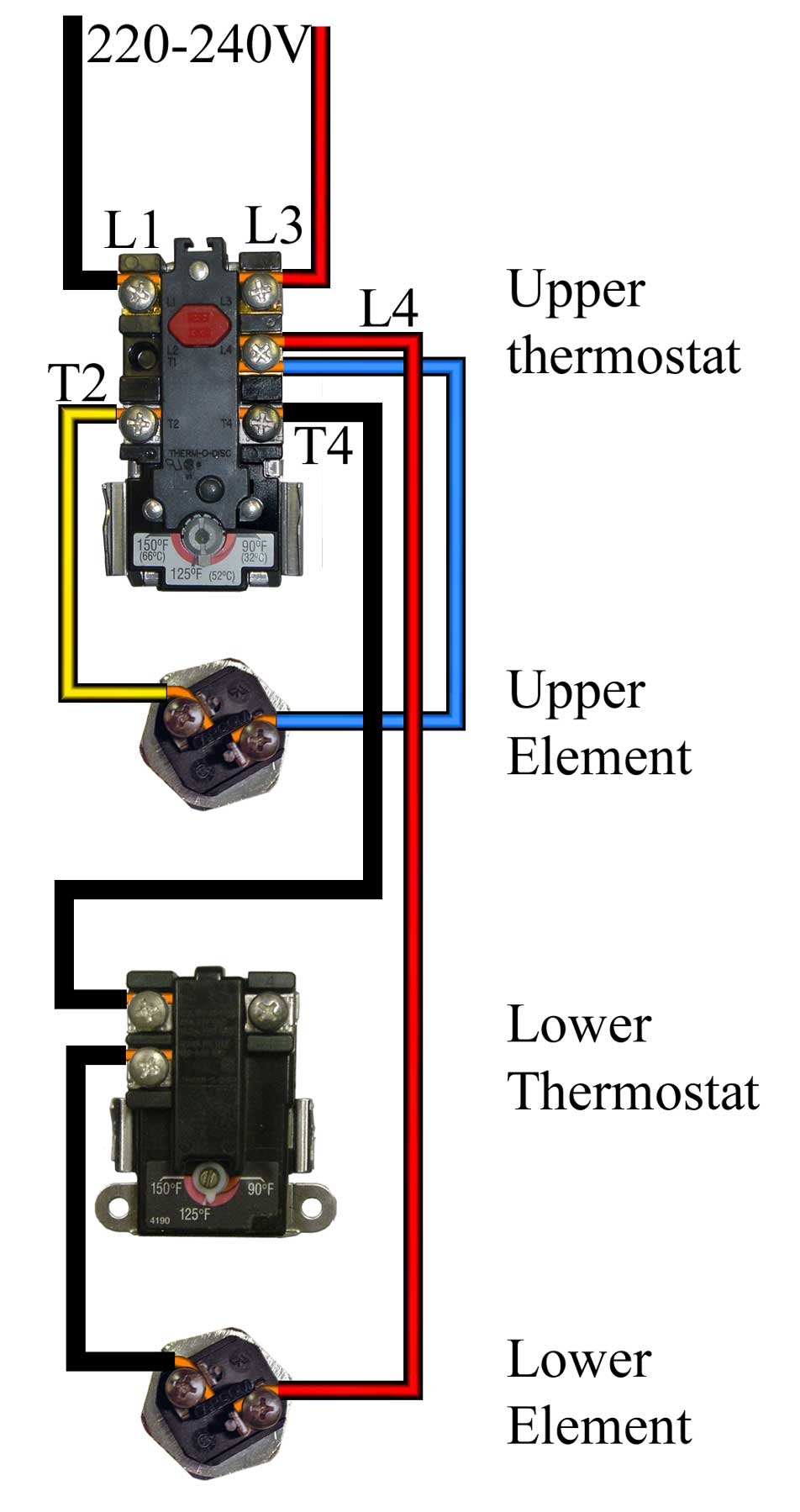 Best 220 Volt Baseboard Heater Thermostat Wiring Diagram