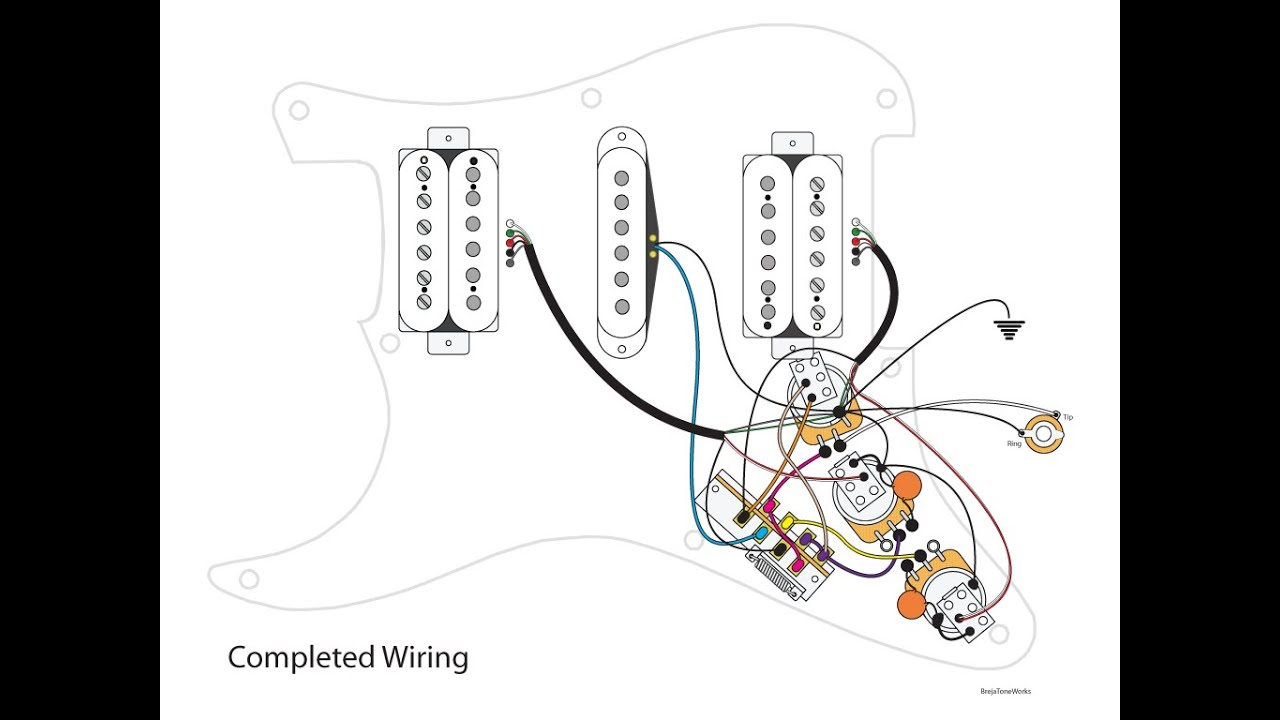 Hsh Guitar Wiring Diagrams - Wiring Diagram Blog - Hsh Wiring Diagram