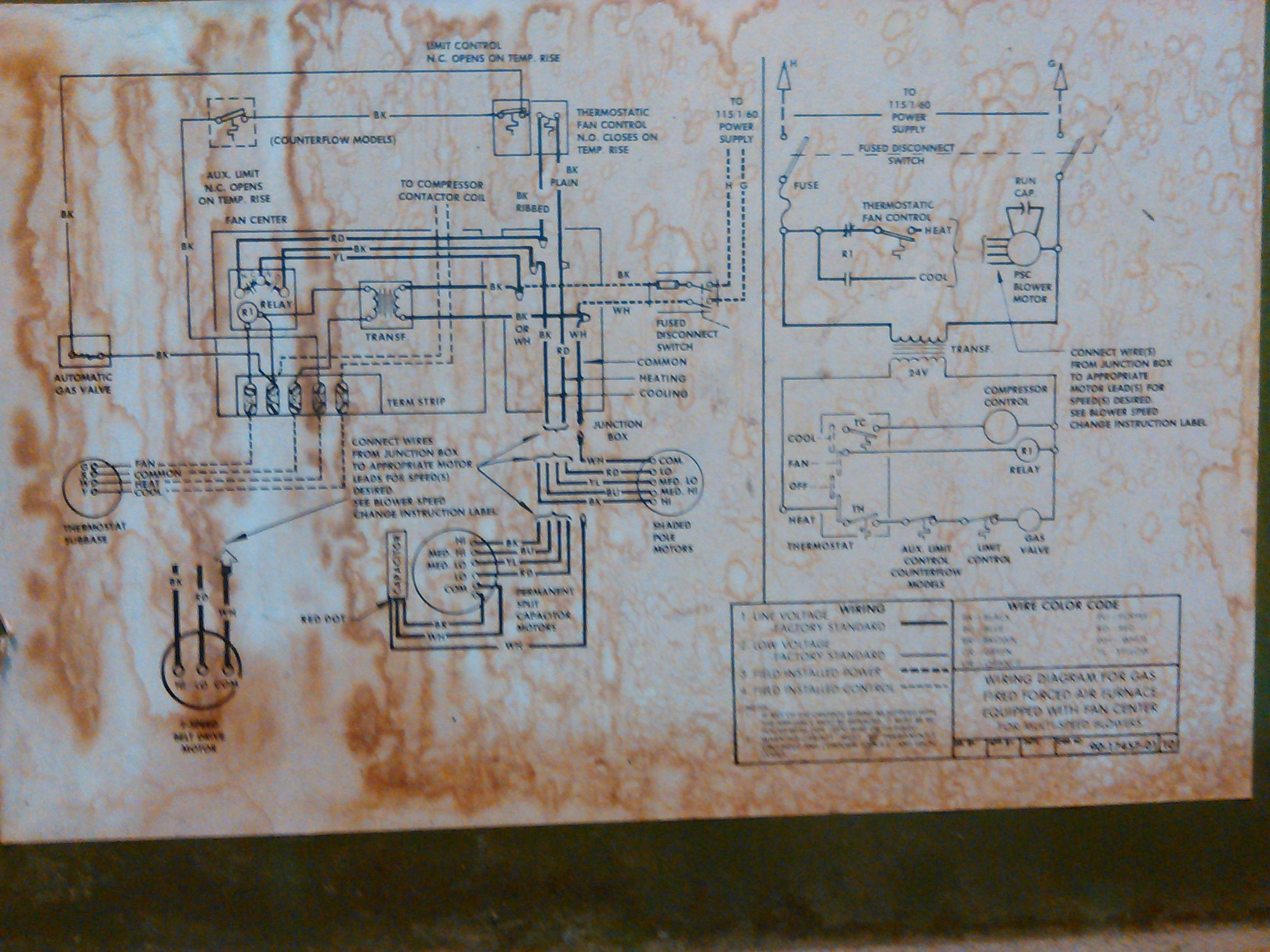 Hvac - Replace Old Furnace Blower Motor With A New One But The Wires - Furnace Blower Motor Wiring Diagram