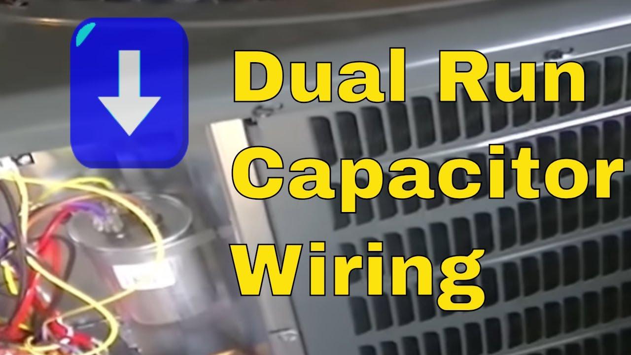 Hvac Training | Dual Run Capacitor Wiring - Youtube - Wiring Diagram For 230V Single Phase Motor