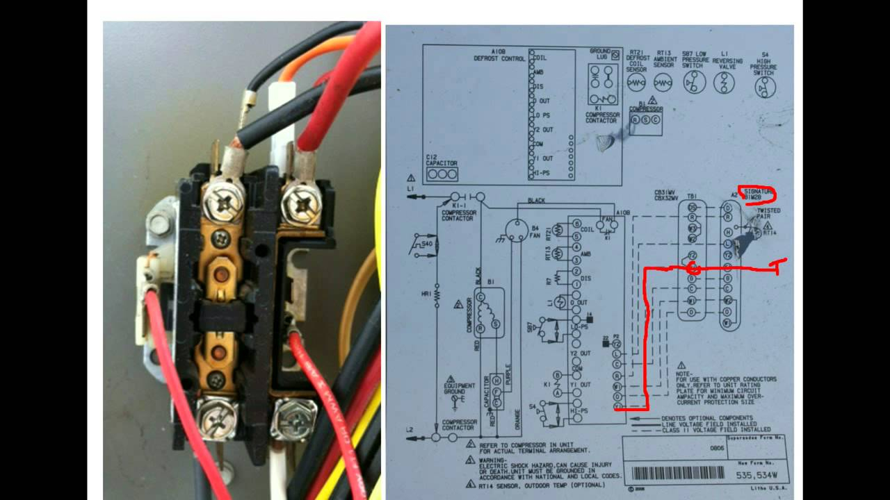 Hvac Training Understanding Schematics Contactors - 2 - Youtube - Ac Contactor Wiring Diagram