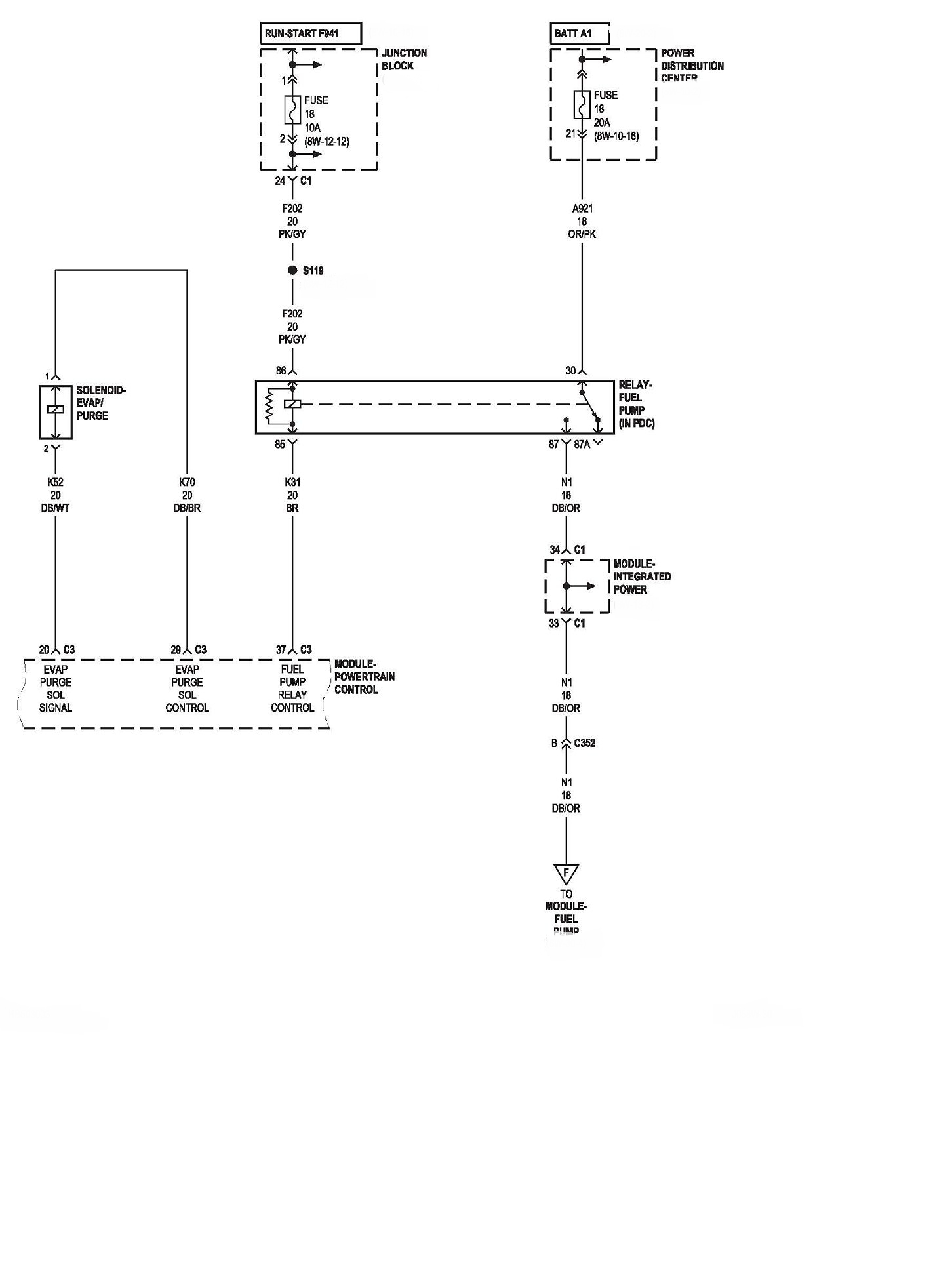 I Have 2005 Dodge Durango The Fuel Pump Is Not Comeing On I Check - Fuel Pump Wiring Diagram
