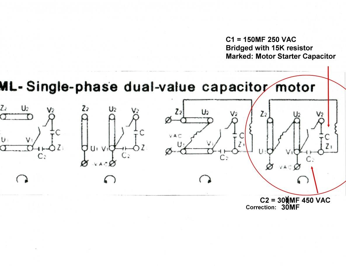 Images Of Single Phase Capacitor Start Motor Wiring Diagram Diagrams - Capacitor Start Motor Wiring Diagram