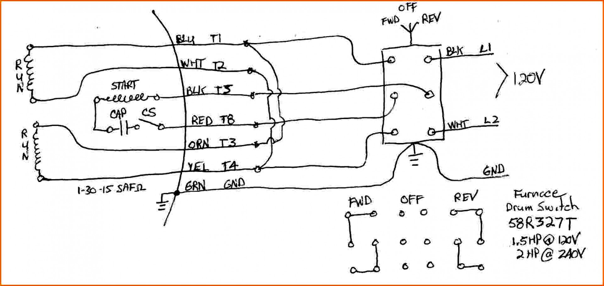 Capacitor Start Motor Wiring Diagram