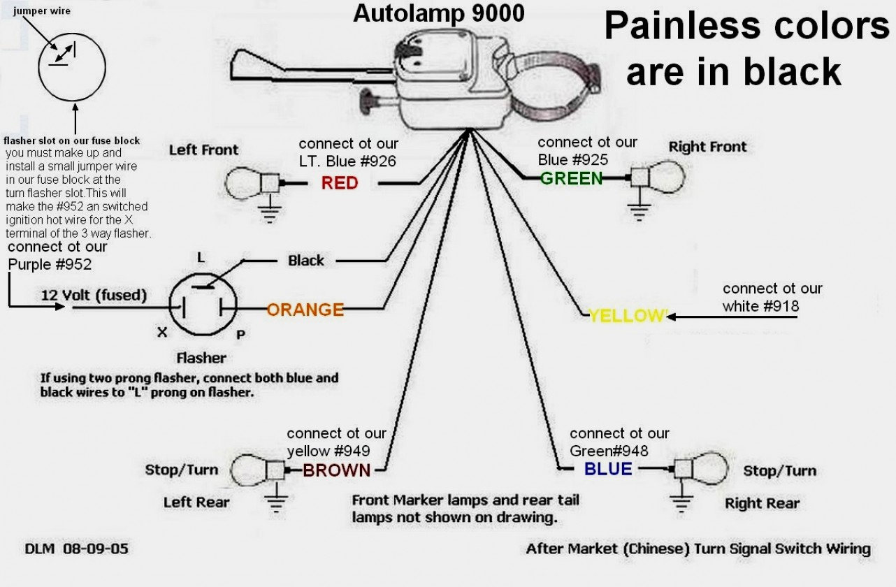 Images Of Universal Turn Signal Wiring Diagram Motorcycle Flasher - Turn Signal Switch Wiring Diagram