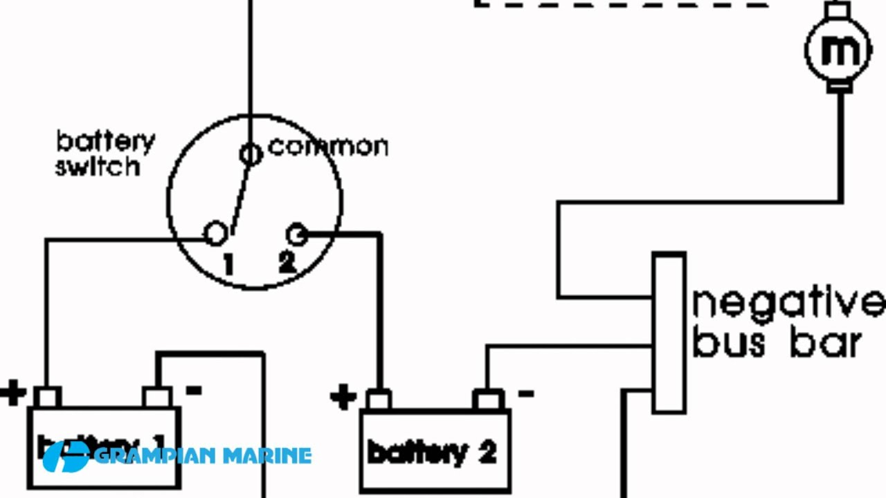 Installing A Second Battery In A Boat - Youtube - Marine Battery Switch Wiring Diagram