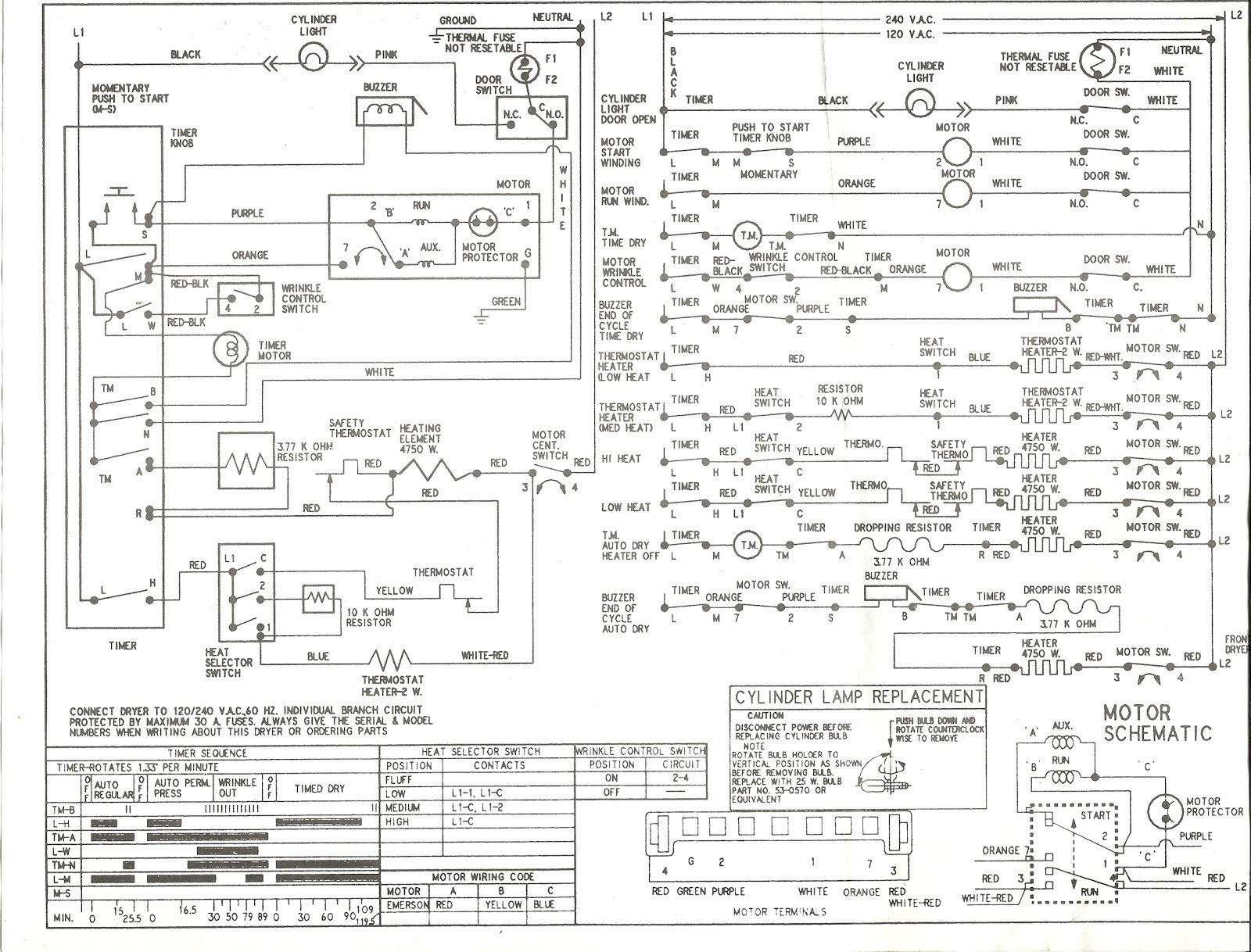 Kenmore Dryer Wiring Diagram 220 - Wiring Diagrams - Kenmore Dryer Wiring Diagram