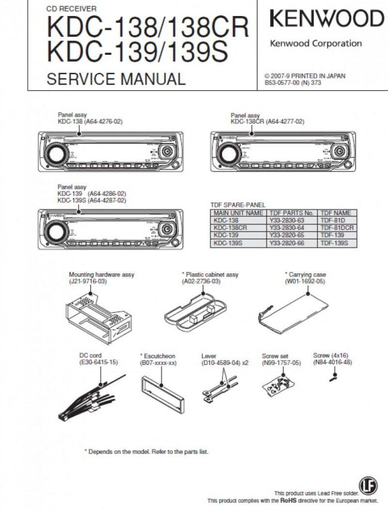 Kenwood Kdc 122 Wiring Diagram 138