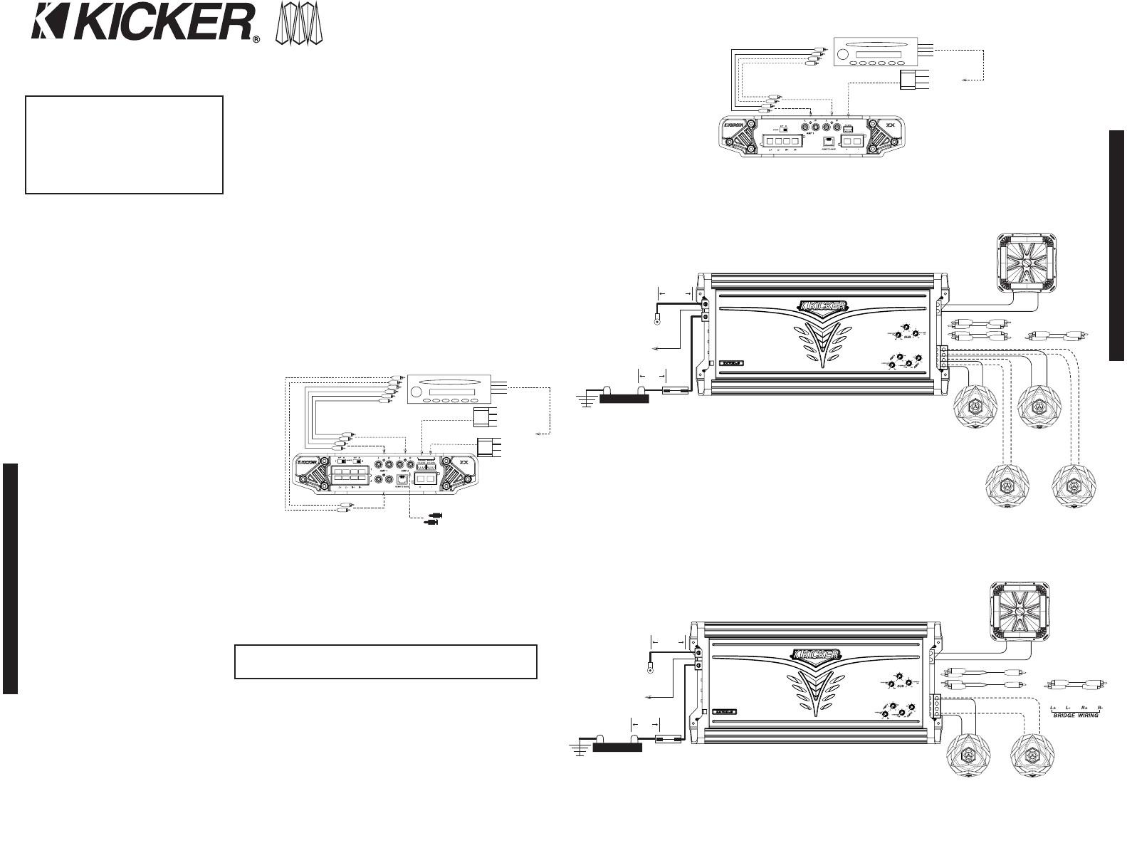 Kicker Kisl Wiring Diagram Collection | Wiring Diagram Sample - Kicker Wiring Diagram