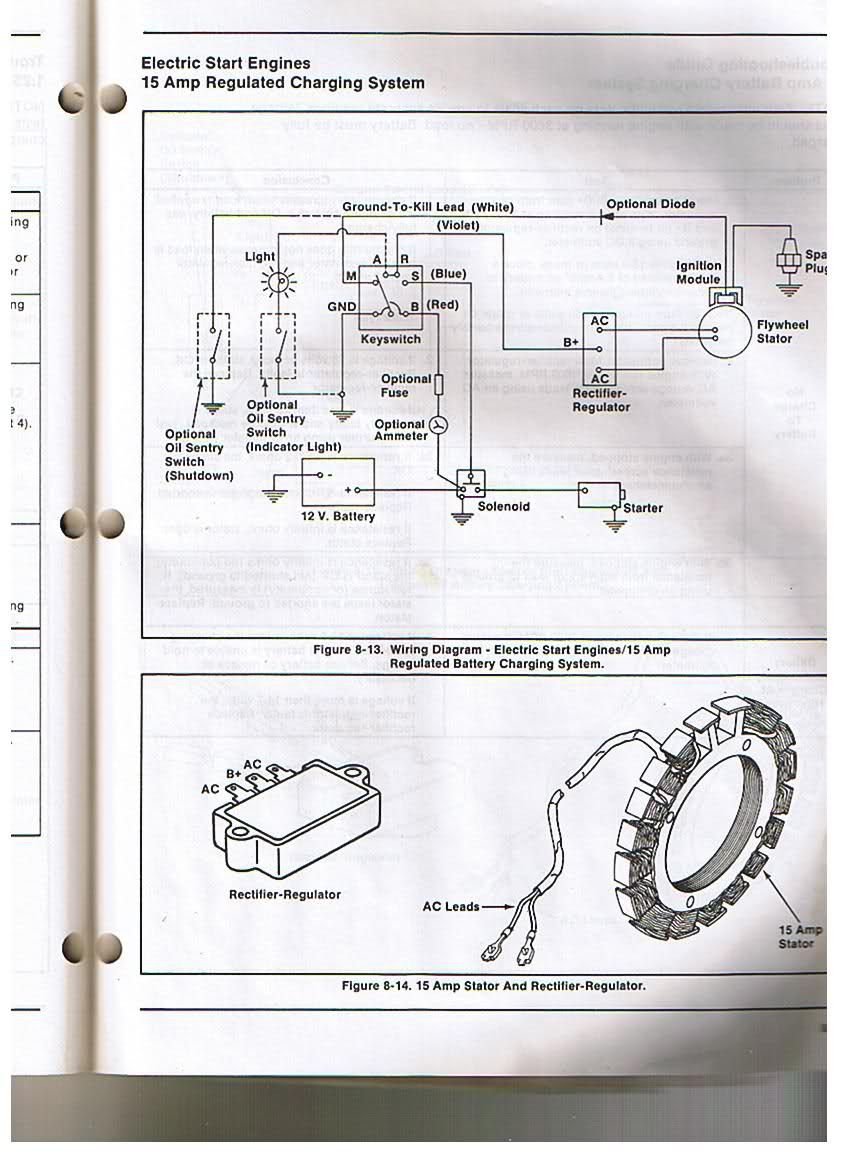 Kohler Engine Electrical Diagram | Re: Voltage Regulator/rectifier - Kohler Engine Wiring Diagram