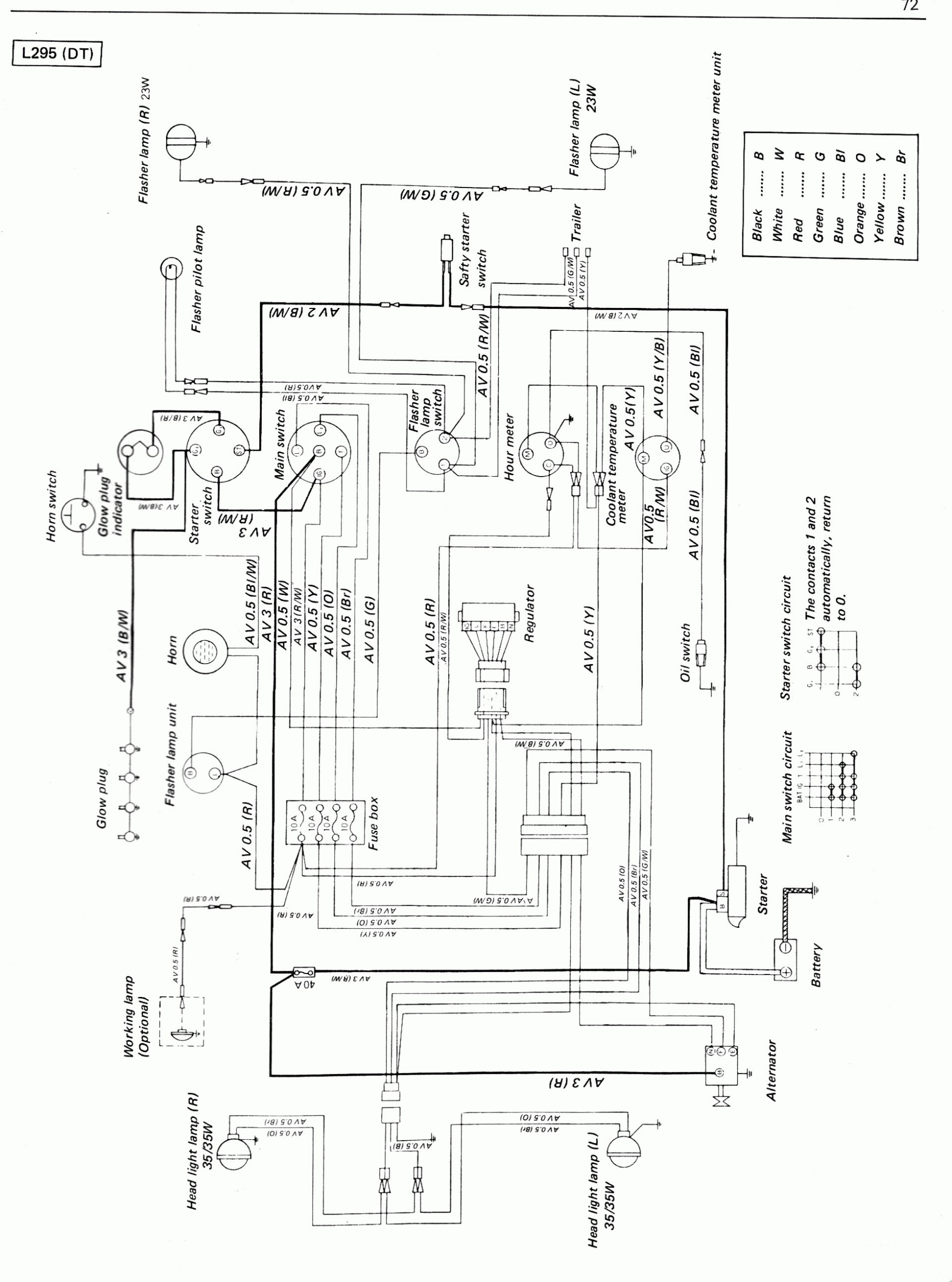 Kubota Schematics | Manual E-Books - Kubota B7800 Wiring Diagram