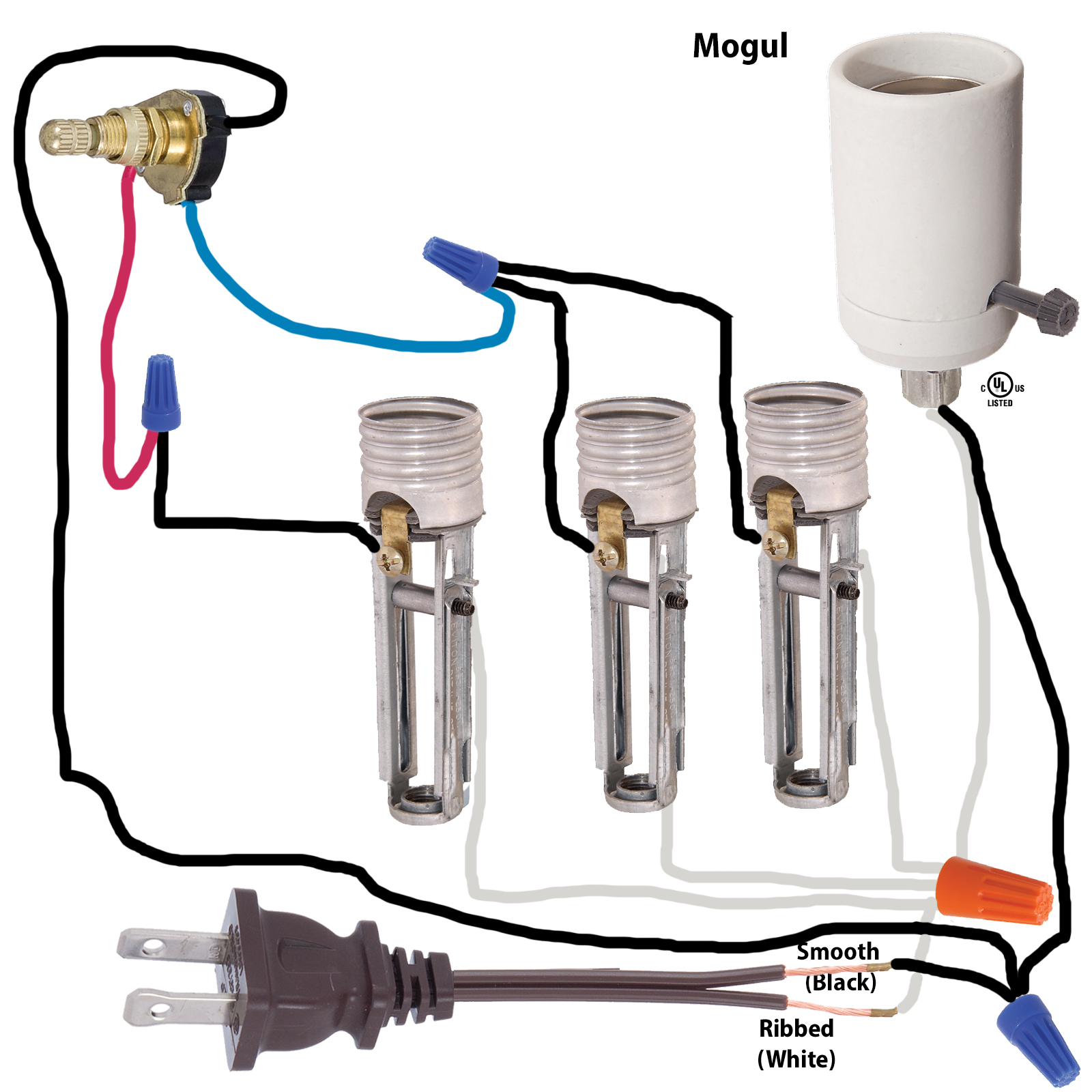 Lamp Parts And Repair | Lamp Doctor: Floor Lamp With Mogul Socket - Lamp Wiring Diagram