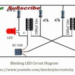 Learn How To Make Blinking Led Lights Circuit, Blink Led, Flash Led   Led Lighting Wiring Diagram