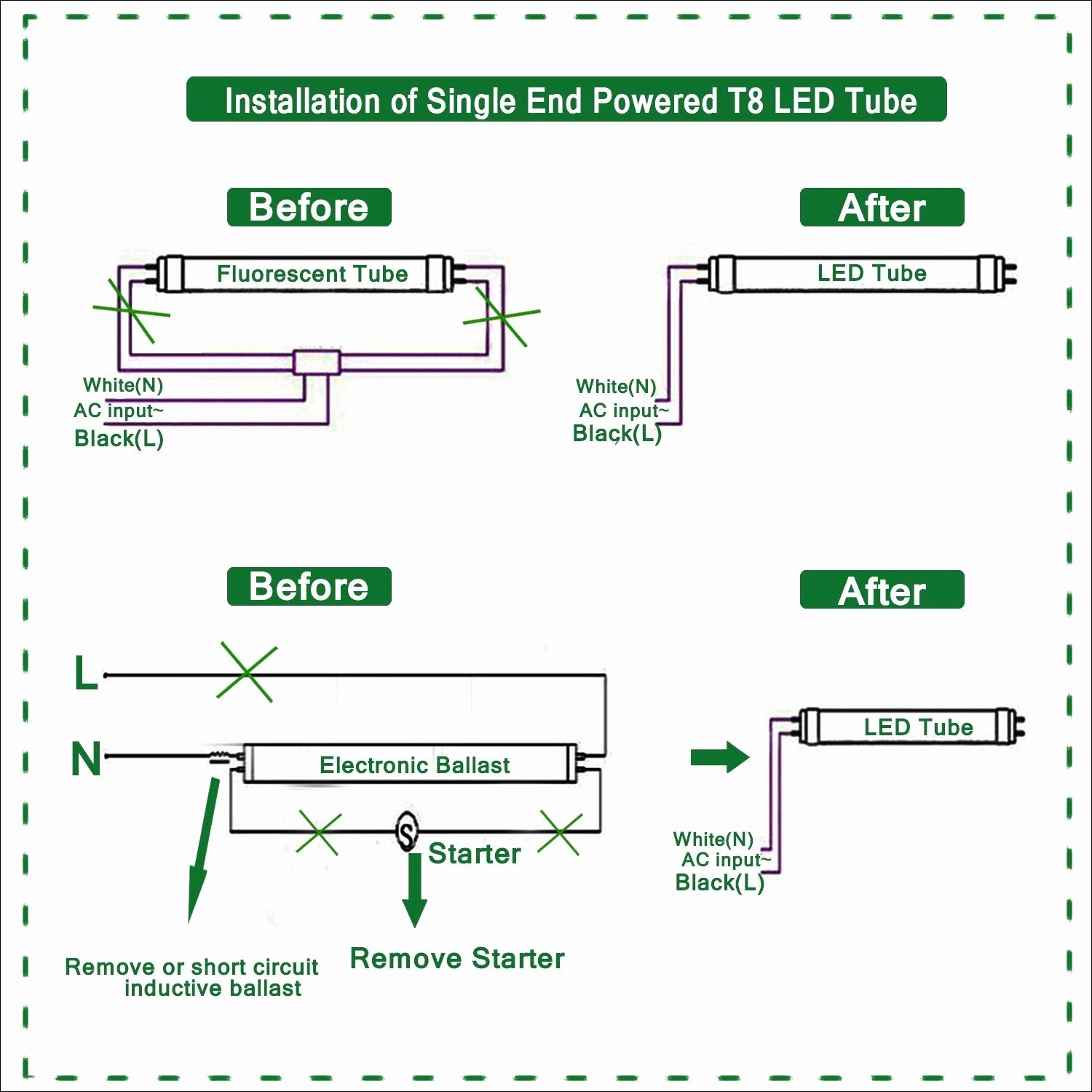 Led Fluorescent Replacement Wiring Diagram | Wiring Diagram - 2 Lamp T8 Ballast Wiring Diagram